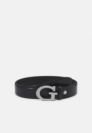BELT LOGO ENGRAVED BUCKLE - Belte - black