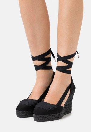 VEGAN WEDGE - Platform sandals - black