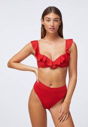 RUFFLE - Bikini top - red