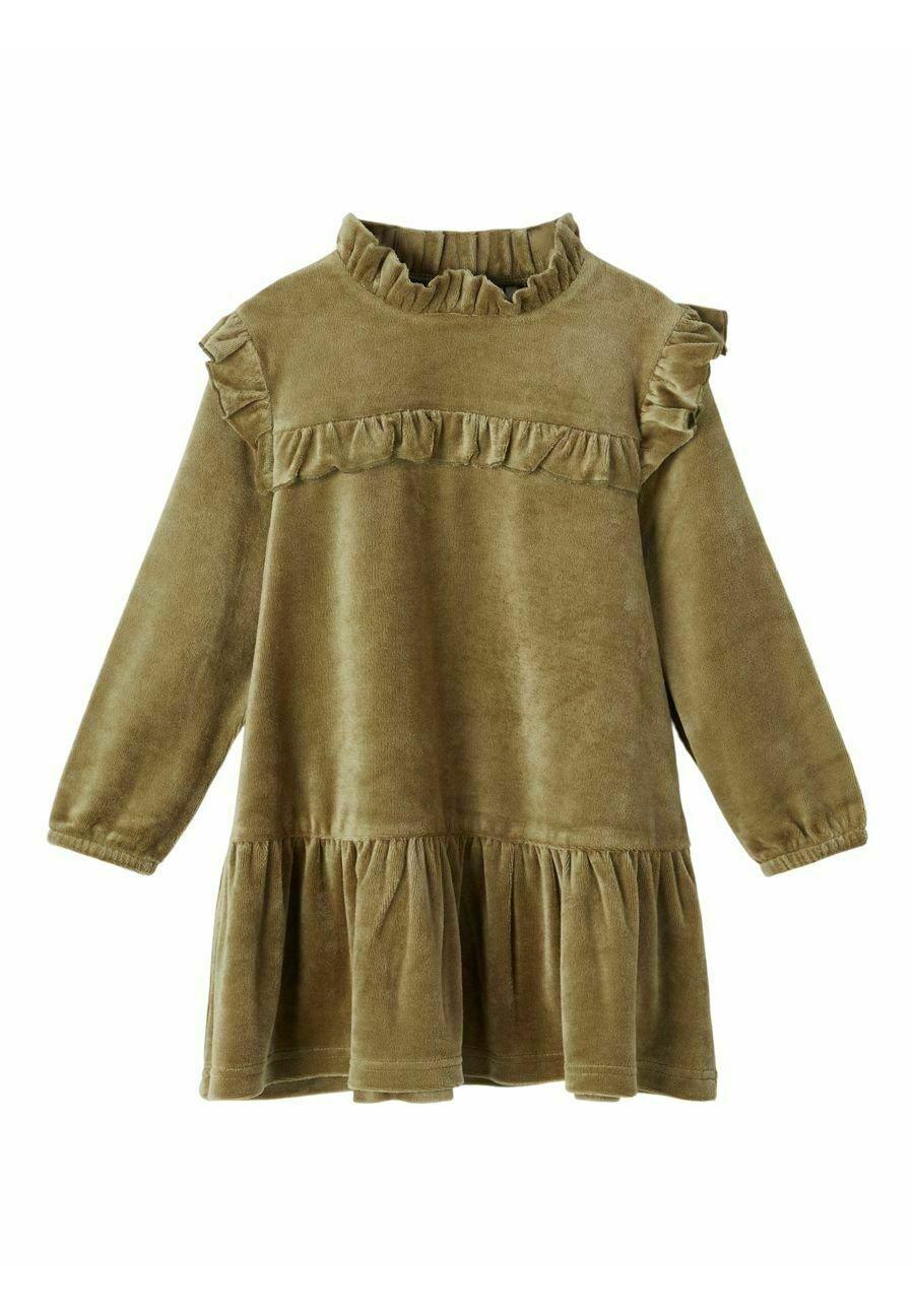 Kinder VELOURS RÜSCHEN - Blusenkleid