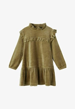VELOURS RÜSCHEN - Shirt dress - stone gray