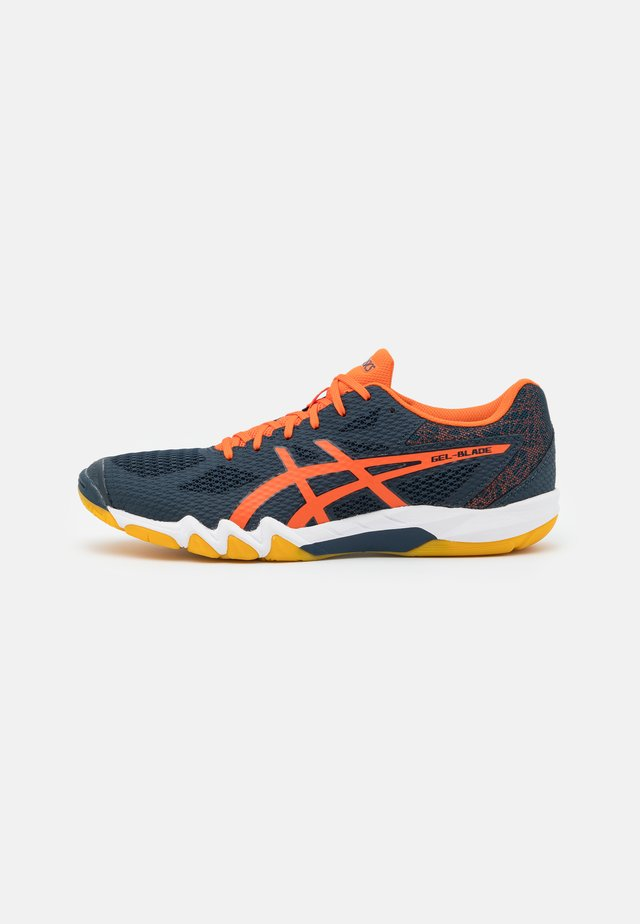 GEL BLADE 7 - Scarpe da tennis per tutte le superfici - french blue/marigold orange