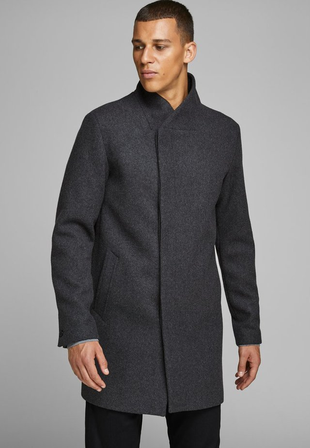 JPRCOLLUM - Short coat - dark grey melange