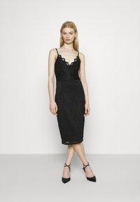 Vila - VISTASIA STRAP DRESS - Cocktail dress / Party dress - black - 0