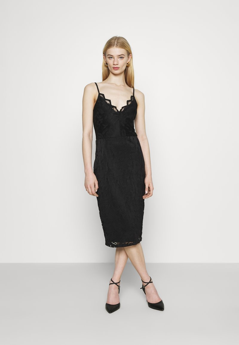 Vila - VISTASIA STRAP DRESS - Cocktail dress / Party dress - black