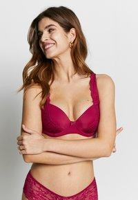 LASCANA - CARINA - Balconette bra - dark pink - 3
