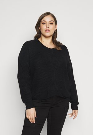 PCSUNNY NECK - Jumper - black