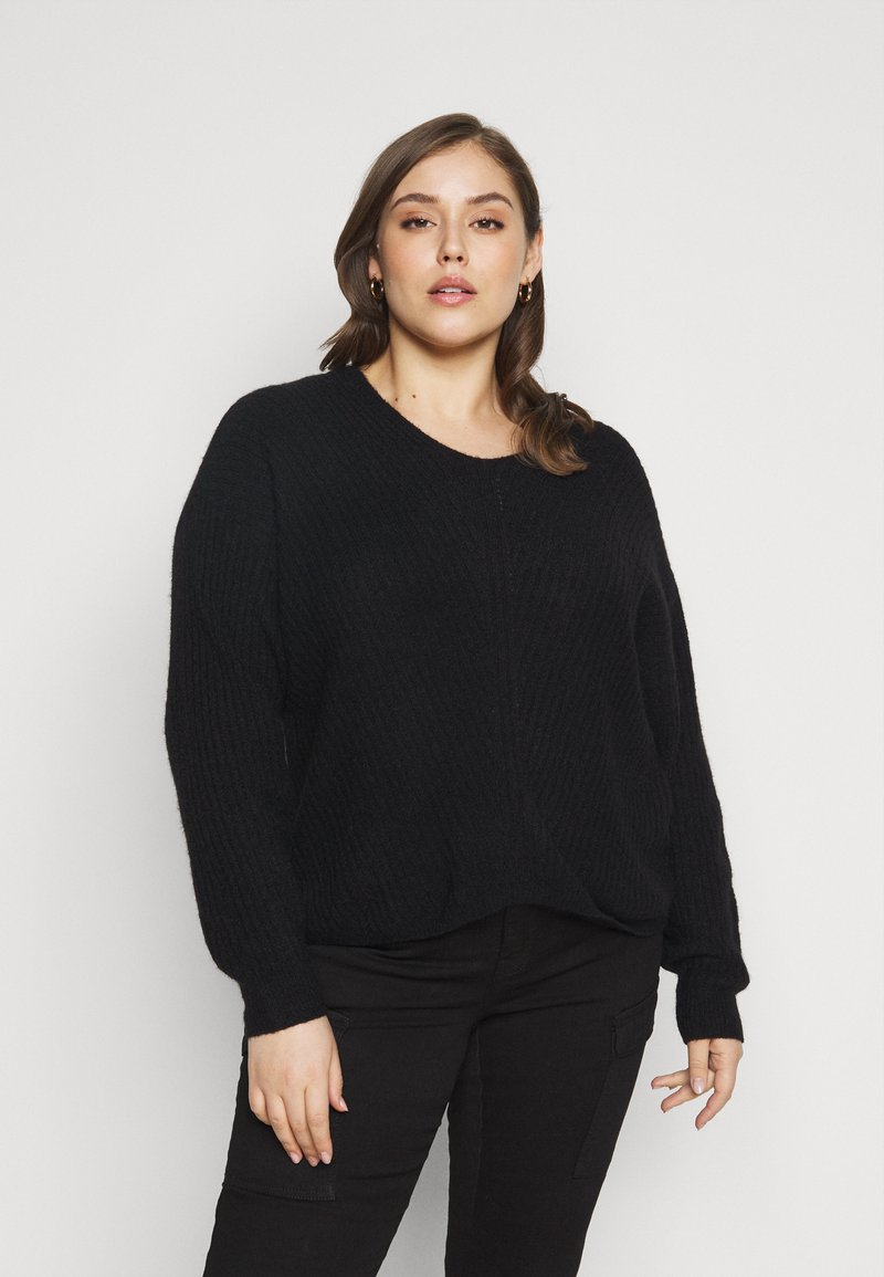 Pieces Curve - PCSUNNY NECK - Jumper - black