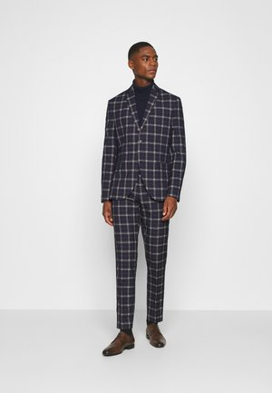 BOLD CHECK SUIT - Traje - dark blue