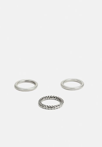 HAND CRAFTED BANDS 3 PACK - Ringar - silver-coloured