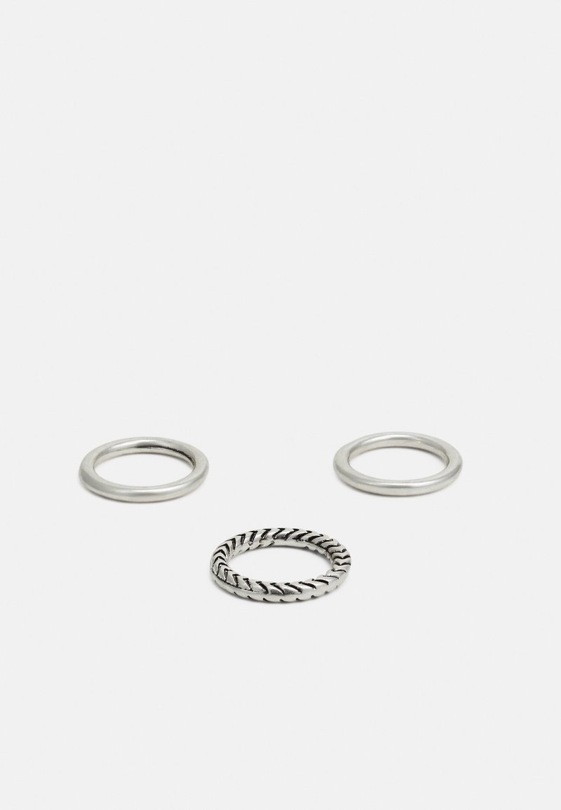 Classics77 - HAND CRAFTED BANDS 3 PACK - Ring - silver-coloured