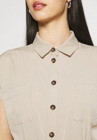 ONLY - ONLHANNOVER SHIRT DRESS - Shirt dress - humus - 4