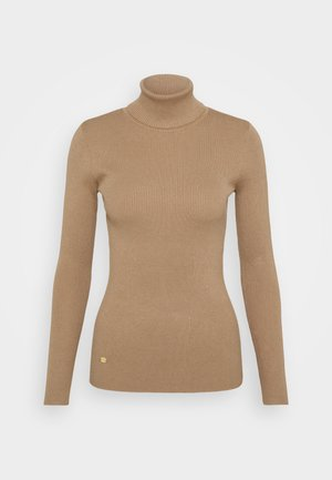 TURTLE NECK - Jumper - classic camel