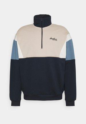 CREW COLIN UNISEX - Sweatshirt - marino/beige