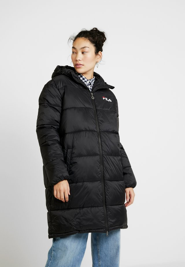 BRONWED PUFF HOOD - Winter coat - black