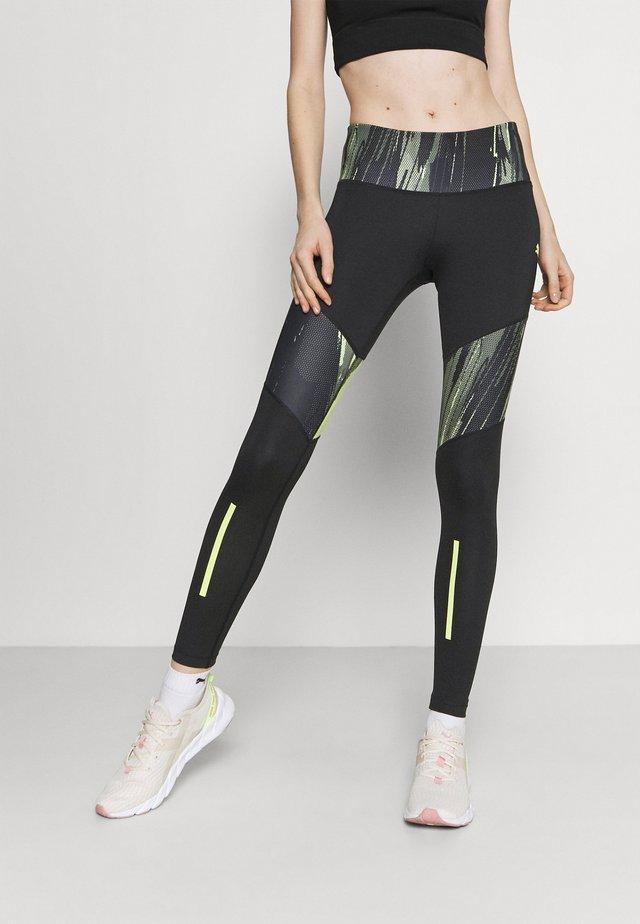 INDIVIDUAL - Teplákové kalhoty - black/asphalt/soft fluo yellow