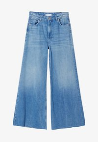 Bershka - Jeansy Relaxed Fit - blue denim - 4