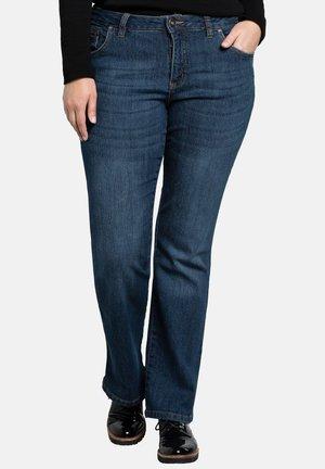 Flared Jeans - dark blue denim
