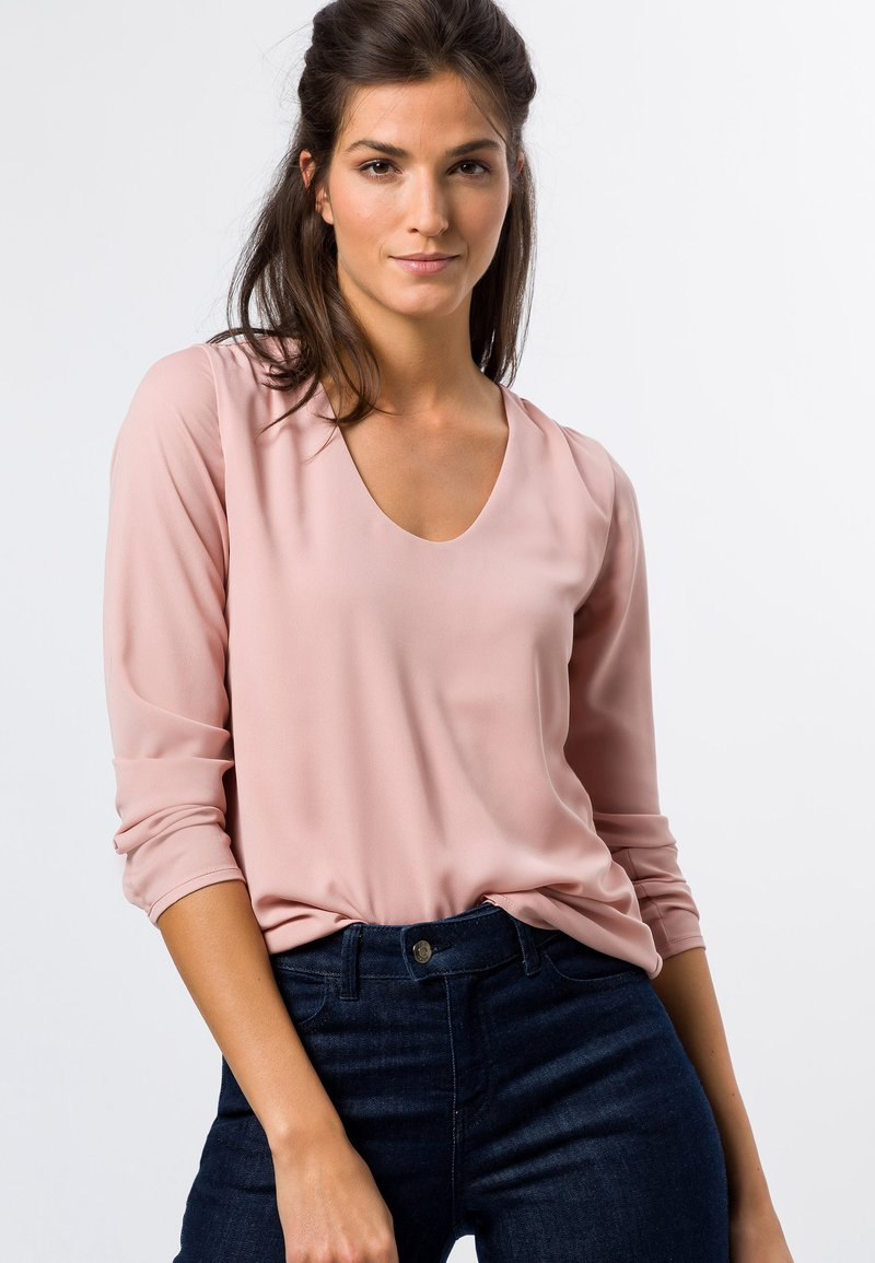 zero - MIT TRANSPARENTEN ÄRMELN - Long sleeved top - misty rose