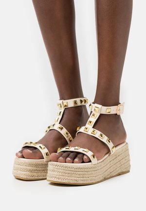MOXIE - Platform sandals - nude