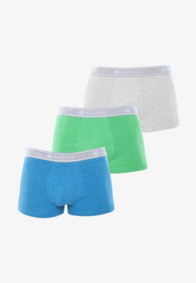 3 PACK - Pants - grau, blau, grün
