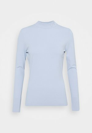 LOGO MOCK NECK - Strickpullover - cashmere blue