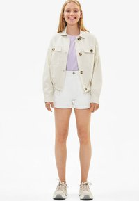 Bershka - Summer jacket - white - 1