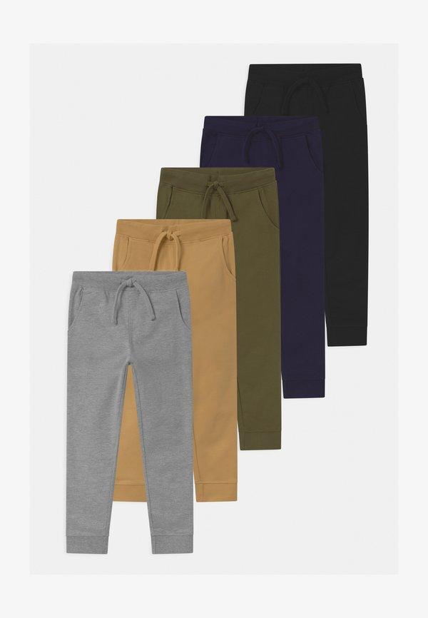 Friboo 5 PACK - Spodnie treningowe - black/dark blue/grey/czarny Odzież Męska JOBW