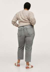Mango - Straight leg jeans - grijs denim - 2