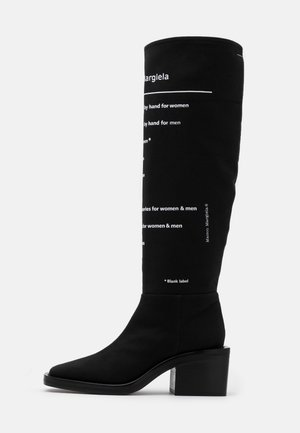 EXPLANATION PRINT STIVALE TUBO STAMPATO - Bottes - black/white