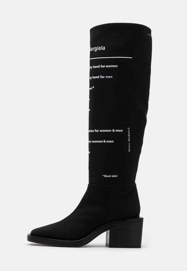 EXPLANATION PRINT STIVALE TUBO STAMPATO - Boots - black/white