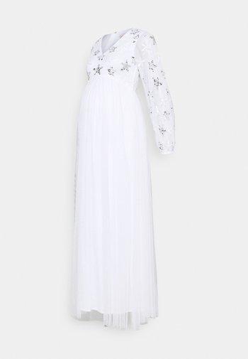 EMBELLISHED BISHOP SLEEVE DRESS