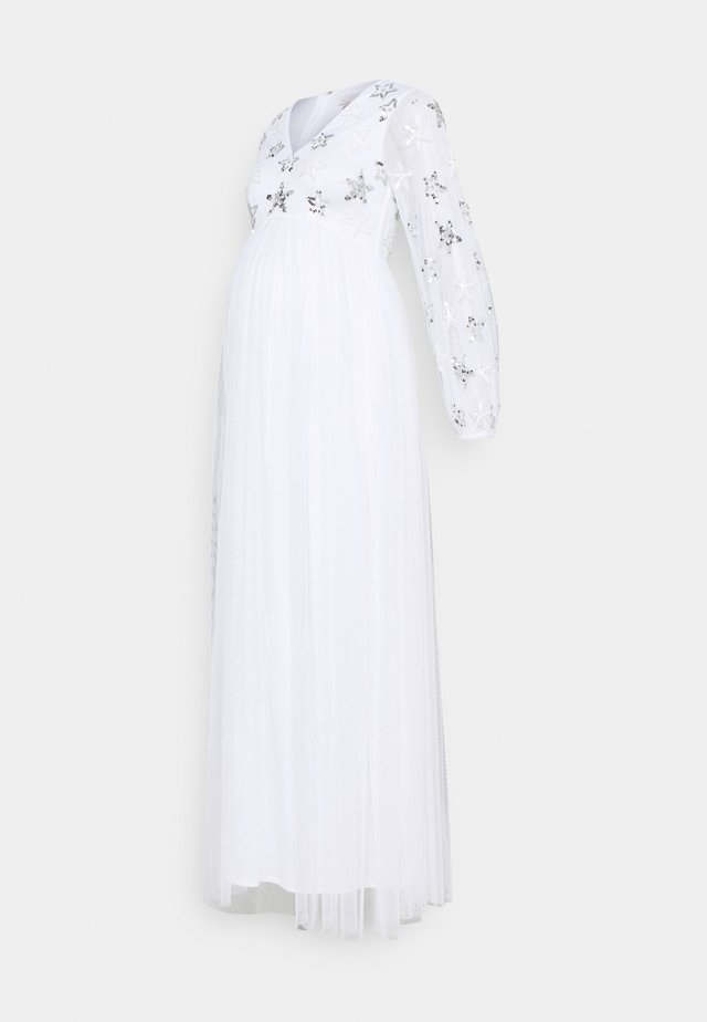 EMBELLISHED BISHOP SLEEVE DRESS - Ballkjole - white