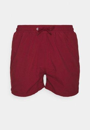PEACHY SOFT BEACH SHORTS - Shorts da mare - bordeaux