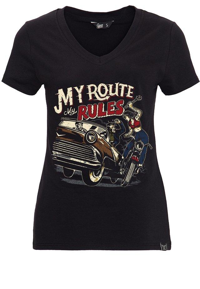 Print T-shirt - schwarz