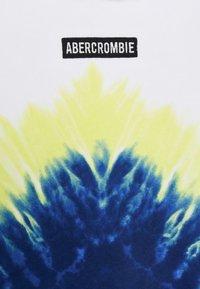Abercrombie & Fitch - LOGO - Jersey con capucha - white/blue - 3
