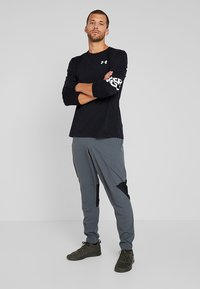 Under Armour - WORDMARK SLEEVE - Funktionströja - black/white - 1