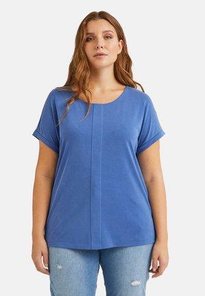 MIT FALTE AUF DER VORDERSEITE - Basic T-shirt - blu