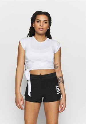 TIE FRONT - Print T-shirt - white