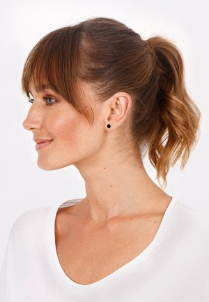 PLÄTTCHEN - Earrings - gold-coloured/black