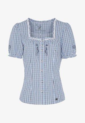 KAPRIO - Button-down blouse - blue/white