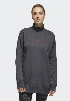ESSENTIALS COMFORT ELONGATED 1/4 ZIP SWEATSHIRT - Sweatshirt - grey