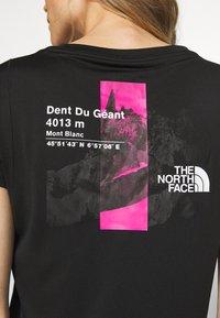 The North Face - GLACIER TEE - Print T-shirt - black - 5