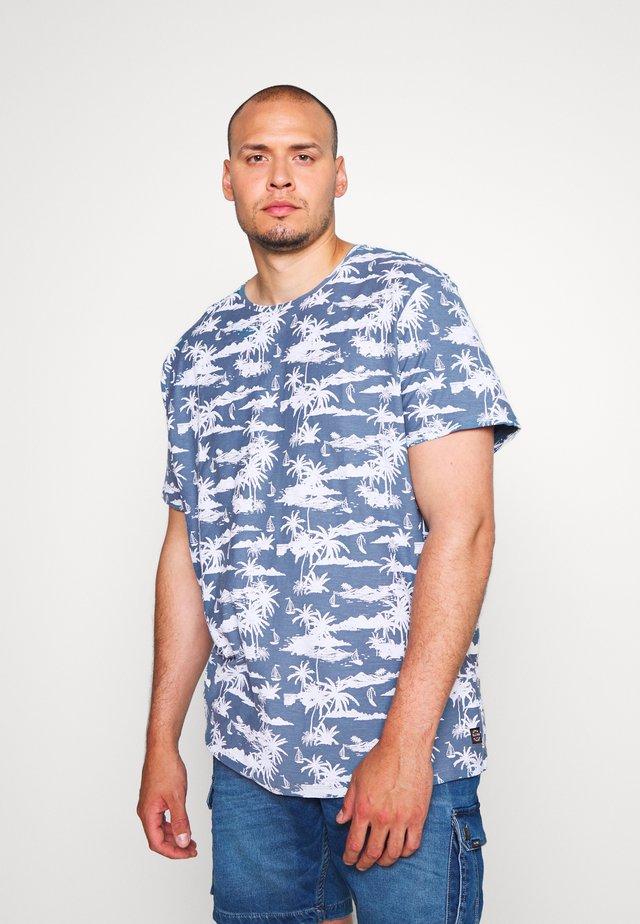 Print T-shirt - copen blue