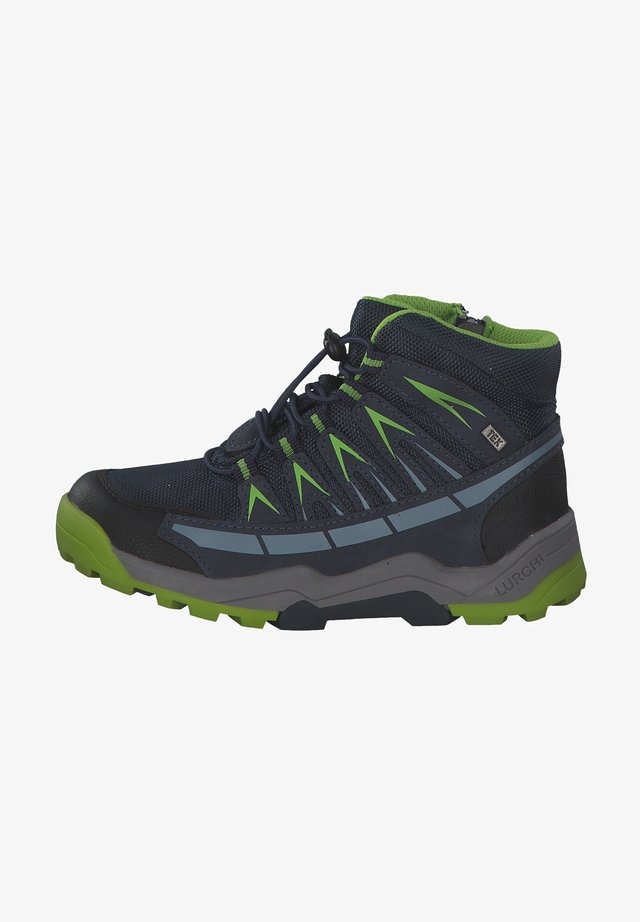 Lace-up ankle boots - navy green