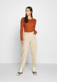 Weekday - LASH - Jeans relaxed fit - light beige - 1