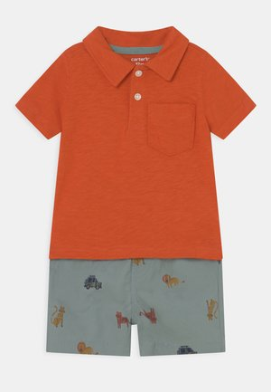 2-Piece Jersey Polo & Short Set - Shorts - orange/blue-grey