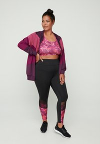 Active by Zizzi - AMONA - Zip-up hoodie - purple - 1
