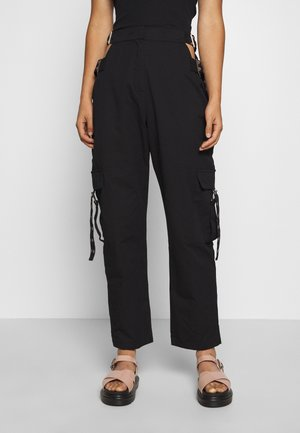 TIME TROUSER - Kangashousut - black