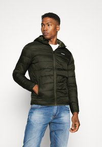 Jack & Jones - JJVINCENT PUFFER HOOD - Winterjas - rosin - 0